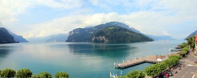 Λίμνη τεσσάρων καντονίων, Ελβετία Στοκ Εικόνα