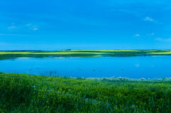 Λίμνη της βόρειας Ντακότας Στοκ Φωτογραφίες