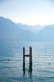 Λίμνη της Γενεύης, Ελβετία Στοκ Φωτογραφία