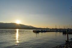 Λίμνη της Ζυρίχης - Ελβετία Στοκ Εικόνες