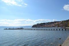 Λίμνη της Οχρίδας Στοκ Εικόνες