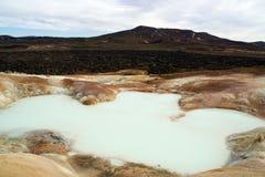 Λίμνη του καυτού ηφαιστειακού νερού στην Ισλανδία Στοκ Εικόνα