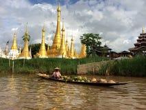 Λίμνη του Μιανμάρ Inle (Βιρμανία) Στοκ Εικόνες
