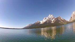Λίμνη του Τζάκσον και σειρά Tetons απόθεμα βίντεο