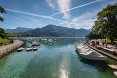 Λίμνη του Annecy, Γαλλία Στοκ εικόνα με δικαίωμα ελεύθερης χρήσης