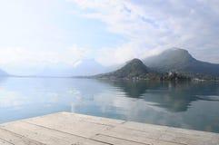 Λίμνη του Annecy σε Talloires, Γαλλία Στοκ εικόνα με δικαίωμα ελεύθερης χρήσης