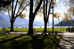 Λίμνη του Annecy, στη Γαλλία Στοκ εικόνες με δικαίωμα ελεύθερης χρήσης