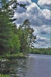 Λίμνη του Leonard εντοπίζω σε Childwold, Νέα Υόρκη, Ηνωμένες Πολιτείες Στοκ Εικόνες