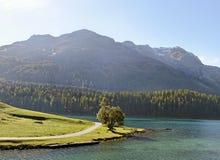 Λίμνη του ST Moritz. Στοκ Εικόνες