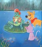 λίμνη φίλων διανυσματική απεικόνιση