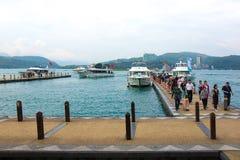 Λίμνη φεγγαριών ήλιων, Ταϊβάν Στοκ Εικόνες