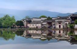 Λίμνη φεγγαριών στο χωριό Hongcun, Κίνα Στοκ εικόνα με δικαίωμα ελεύθερης χρήσης