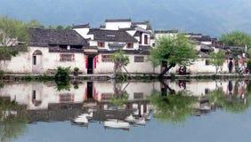 Λίμνη φεγγαριών στο χωριό Hongcun, Anhui, Κίνα Στοκ εικόνες με δικαίωμα ελεύθερης χρήσης