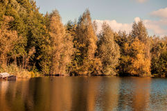 Λίμνη φθινοπώρου Στοκ Φωτογραφίες