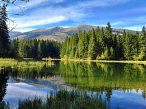 Λίμνη χαμηλό Tatras Σλοβακία βουνών Vrbicke pleso Vrbicke Στοκ Εικόνα