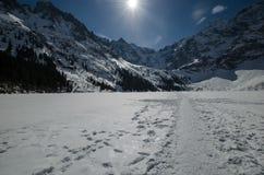 Λίμνη 3 χειμερινών βουνών Στοκ φωτογραφία με δικαίωμα ελεύθερης χρήσης