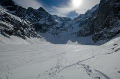 Λίμνη χειμερινών βουνών Στοκ Φωτογραφίες