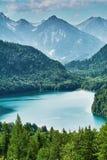 Λίμνη Alpensee στις Άλπεις Στοκ Εικόνα