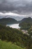 Λίμνη Alpsee στη Γερμανία Στοκ φωτογραφία με δικαίωμα ελεύθερης χρήσης