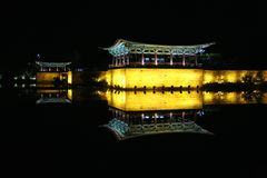 Λίμνη Anapji και παλάτι Donggung στοκ φωτογραφία με δικαίωμα ελεύθερης χρήσης