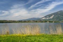 Λίμνη Annone, Lecco, Ιταλία στοκ φωτογραφίες