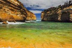 Λίμνη ARD φαραγγιών στην αυστραλιανή παράλια Ειρηνικού Στοκ Φωτογραφίες