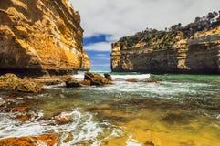 Λίμνη ARD φαραγγιών στην αυστραλιανή παράλια Ειρηνικού Στοκ Φωτογραφία