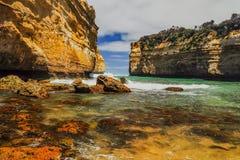 Λίμνη ARD φαραγγιών στην αυστραλιανή παράλια Ειρηνικού Στοκ Εικόνα