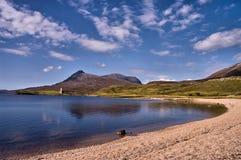 Λίμνη Assynt Sutherland Σκωτία Στοκ φωτογραφία με δικαίωμα ελεύθερης χρήσης