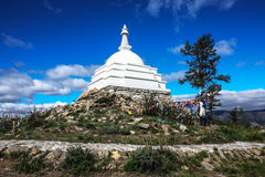 Λίμνη Baikal, το stupa του Βούδα Στοκ εικόνα με δικαίωμα ελεύθερης χρήσης