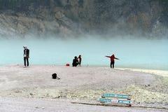 Λίμνη Bandung Putih Kawah Στοκ Εικόνες