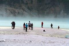 Λίμνη Bandung Putih Kawah Στοκ Φωτογραφίες