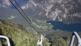 Λίμνη Bohinj από το τοπ σταθμό τελεφερίκ Vogel απόθεμα βίντεο