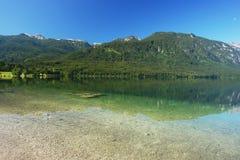 Λίμνη Bohinj, Σλοβενία Στοκ Φωτογραφίες