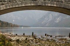 Λίμνη Bohinj (Σλοβενία) Στοκ Εικόνες