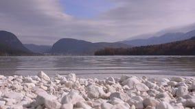 Λίμνη Bohinj Σλοβενία απόθεμα βίντεο
