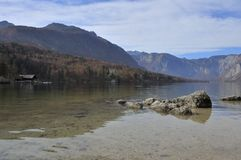 Λίμνη Bohinj το φθινόπωρο Σλοβενία Στοκ φωτογραφία με δικαίωμα ελεύθερης χρήσης
