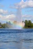 Λίμνη Boivin και πηγή Στοκ Εικόνα
