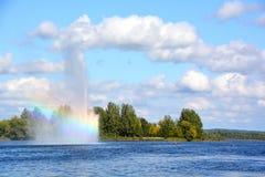 Λίμνη Boivin και πηγή Στοκ εικόνες με δικαίωμα ελεύθερης χρήσης
