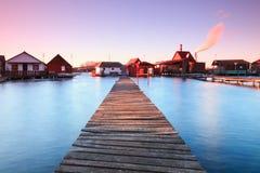 Λίμνη Bokodi στο ηλιοβασίλεμα Στοκ εικόνες με δικαίωμα ελεύθερης χρήσης