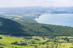 Λίμνη Bolsena από Montefiascone Στοκ Φωτογραφία