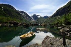 Λίμνη Bondhus Norwegia Στοκ φωτογραφίες με δικαίωμα ελεύθερης χρήσης