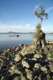 Λίμνη Bracciano ` s, άποψη από Anguillara Sabazia Στοκ Φωτογραφία