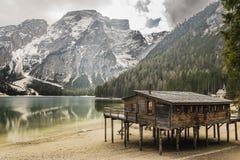 Λίμνη Braies, Trentino Alto Adige Στοκ φωτογραφίες με δικαίωμα ελεύθερης χρήσης
