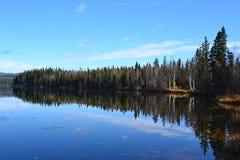 Λίμνη Brich στην εθνική οδό 2 της Αλάσκας στοκ εικόνα με δικαίωμα ελεύθερης χρήσης
