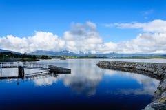 Λίμνη Brunner, Moana, Νέα Ζηλανδία Στοκ Φωτογραφία