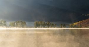 Λίμνη Buttermere, λίμνη Districk, UK Στοκ Εικόνες