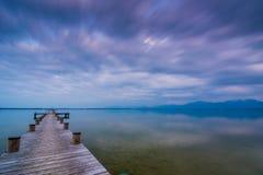 Λίμνη Chiemsee στο σούρουπο Στοκ φωτογραφία με δικαίωμα ελεύθερης χρήσης