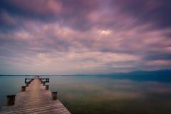 Λίμνη Chiemsee στο σούρουπο Στοκ εικόνες με δικαίωμα ελεύθερης χρήσης