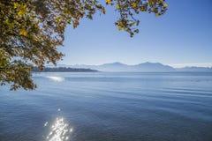 Λίμνη Chiemsee το φθινόπωρο Στοκ φωτογραφία με δικαίωμα ελεύθερης χρήσης